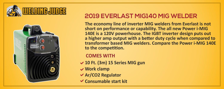 EVERLAST MIG140 MIG WELDER details