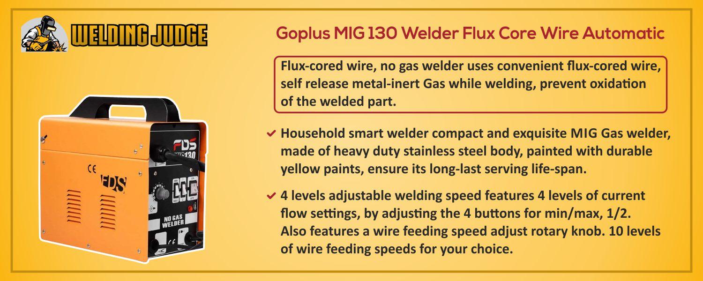 Goplus MIG 130 Welder details