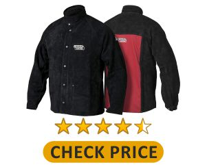 Lincoln Electric Heavy Duty Leather Welding Jacket Product Image