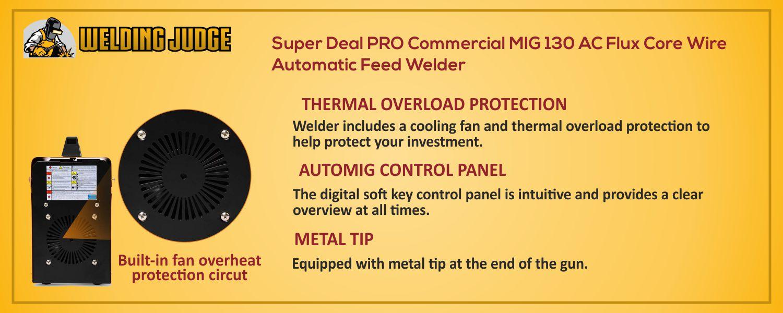 Super Deal PRO Commercial MIG 130 details