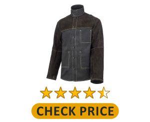Way Lander Welding Jacket Split Leather Heat Fire Resistant