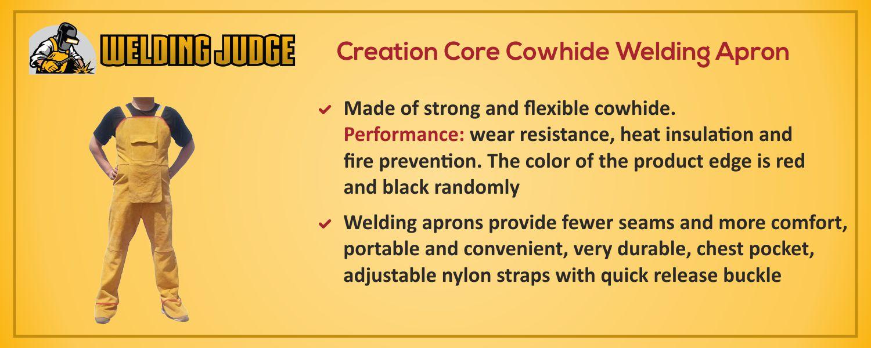 Creation Core Cowhide Welding Apron information