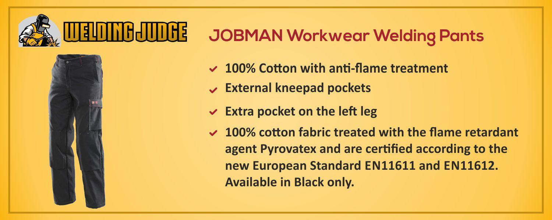 JOBMAN Workwear Welding Pants information