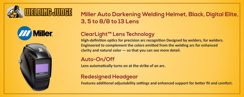 Miller Auto Darkening Welding Helmet information