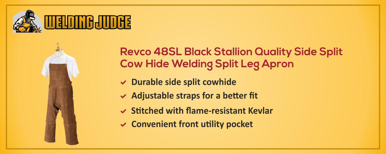 Revco 48SL Black Stallion Welding Split Leg Apron information