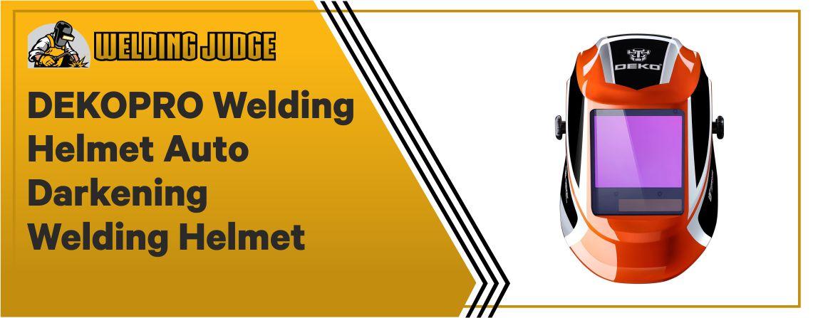 DEKOPRO Welding-Helmet - Auto Darkening Hood