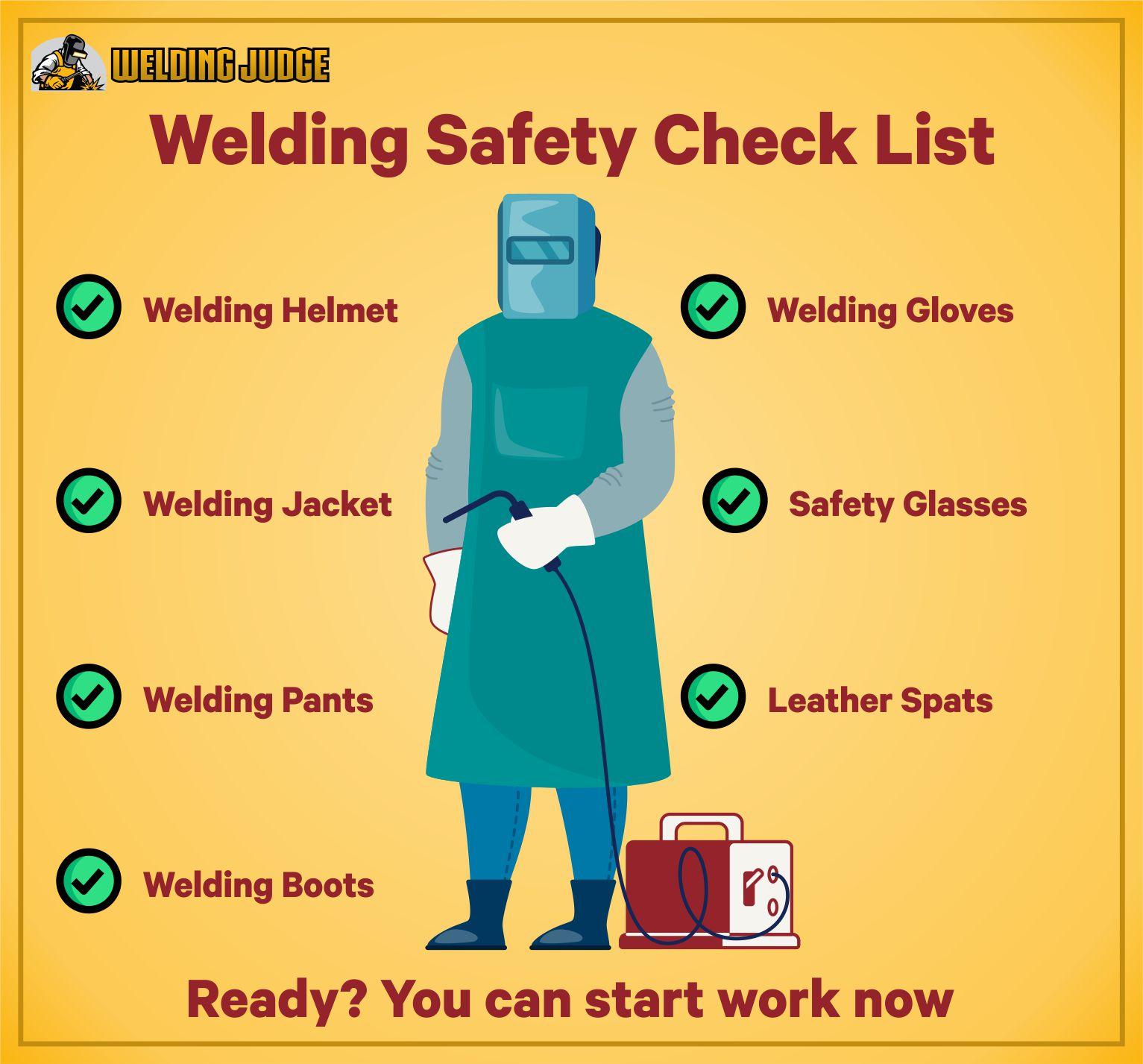 Welding Saftey Check list