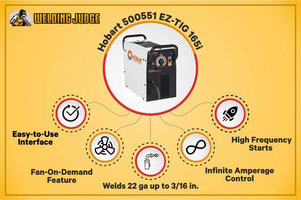 Hobart 500551 EZ-TIG - Best Portable TIG Welder infographics