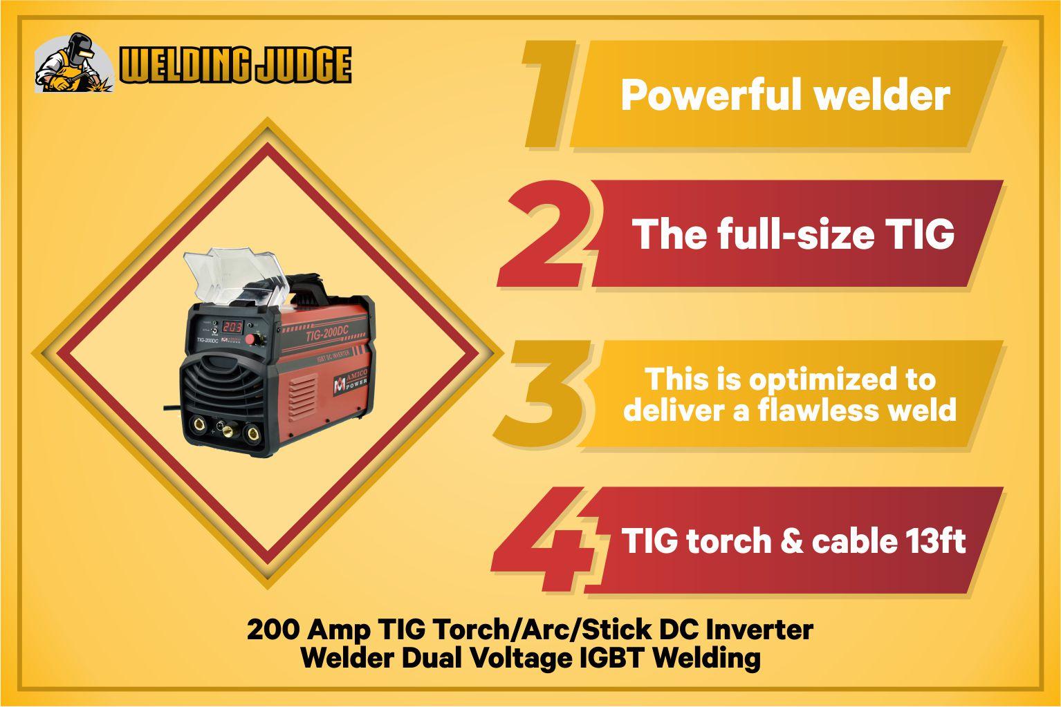 Amico TIG-200DC infographics