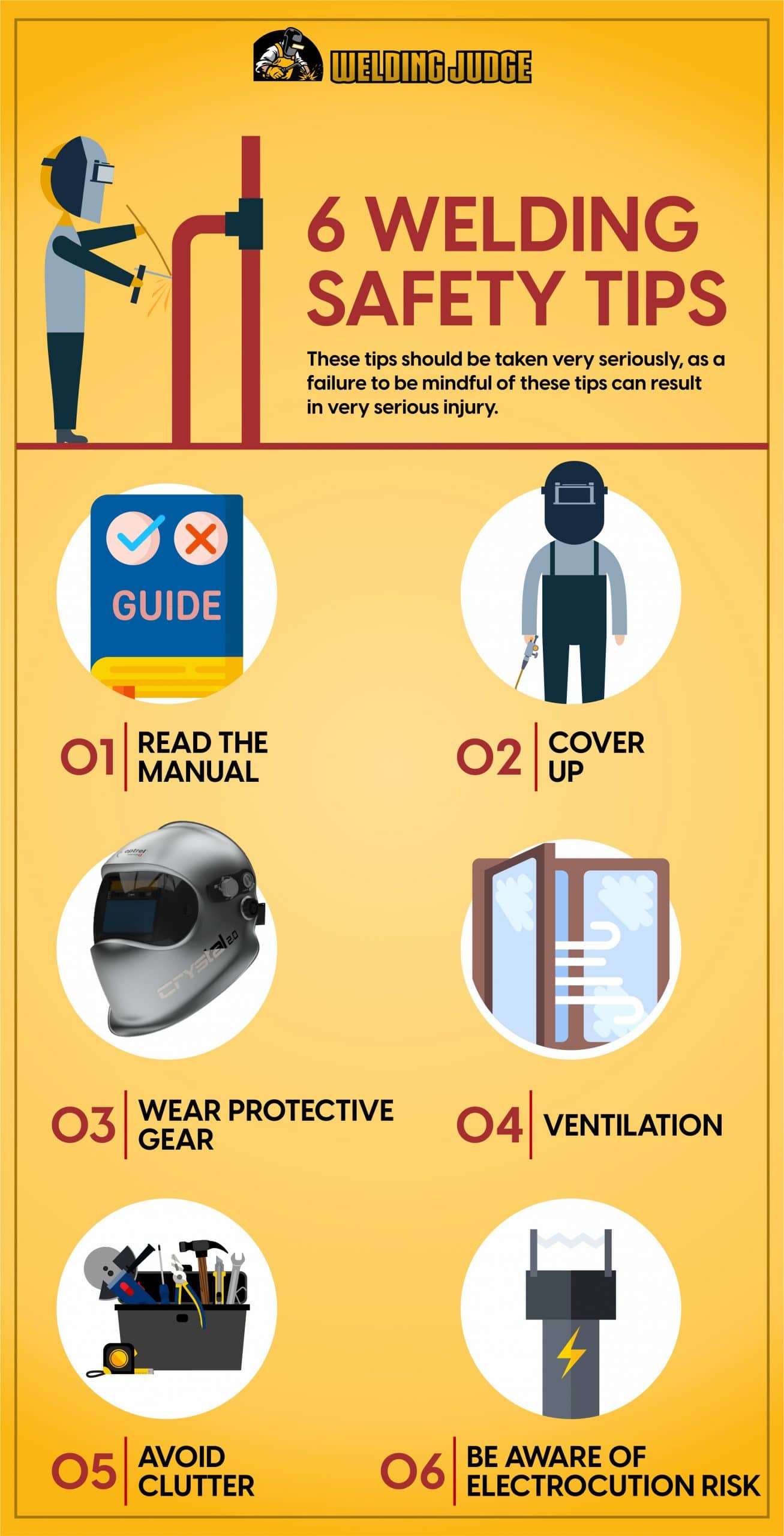 Welding Safety Tips Infograph