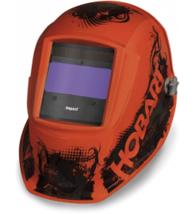 Hobart 770754 aesthetic orange welding helmet