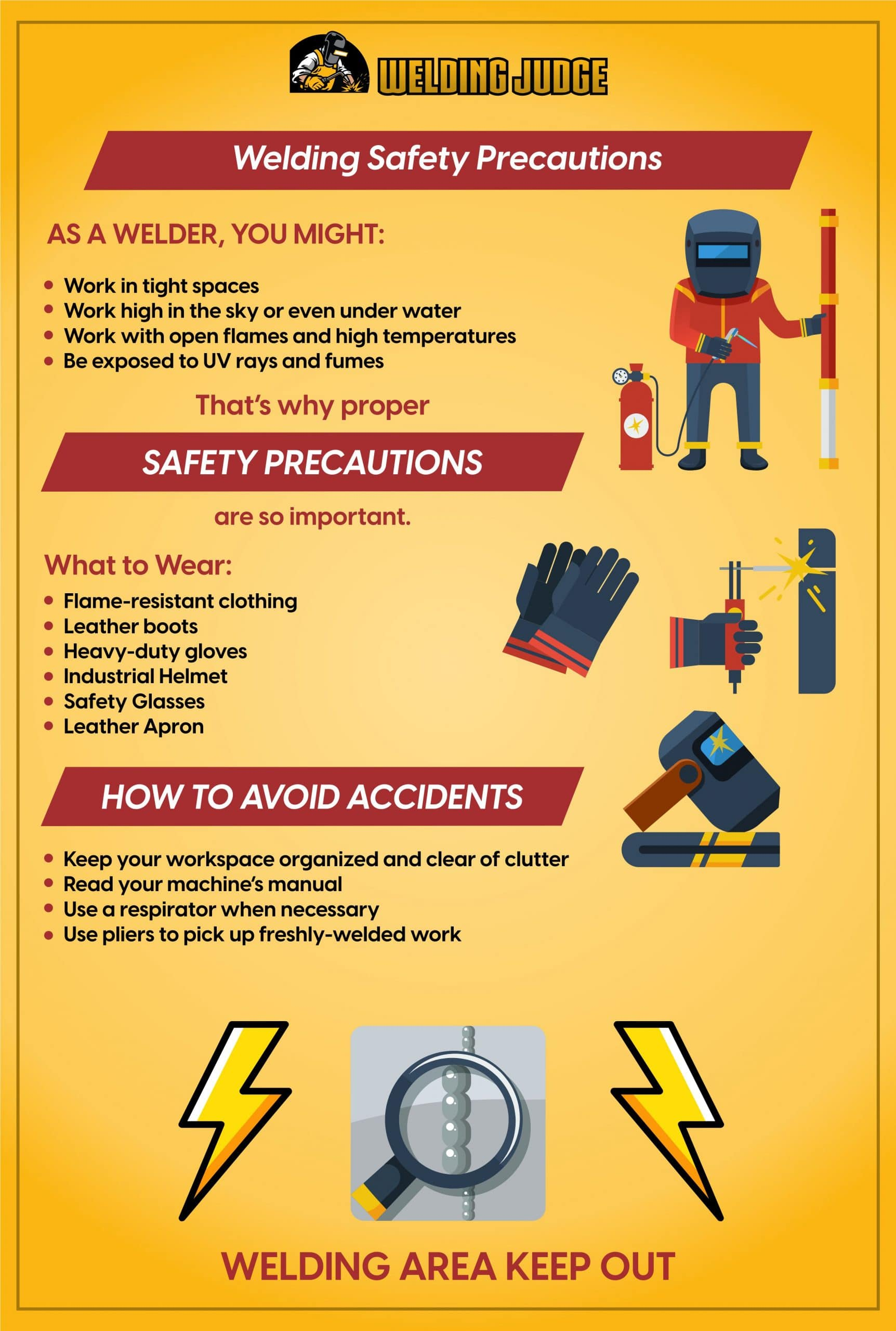 Welding Safety Precautions Guide Infograph
