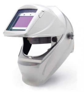 Silver attractive welding helmet